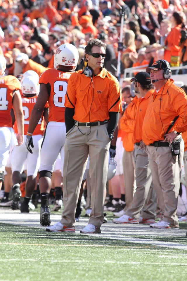 Doug Meacham, Oklahoma State University (OSU) inside receivers coach. The Oklahoman Archives ORG XMIT: 1012212222219169