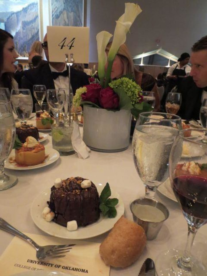 Yummy double chocolate ganche cake dessert at the Evening of Excellence Dinner. (Photo by Helen Ford Wallace).