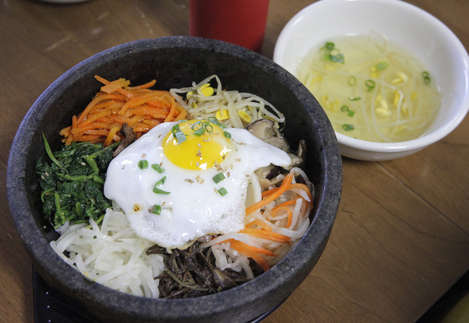 Dolson Bibimbap is the specialty of the city that Jeon Ju Korean Restaurant is named for, and it is the specialty of Yong Rucker, owner/chef of the restaurant.in Midwest City. <strong>David McDaniel - The Oklahoman</strong>