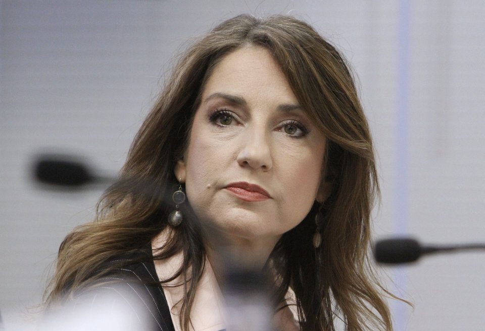 Photo - State Board  Member Joy Hofmeister at a Board of Education meeting deciding to grant high school diplomas to several Oklahoma students who failed state-mandated end-of-instuction exams, Tuesday, June 5, 2012.  Photo By David McDaniel/The Oklahoman
