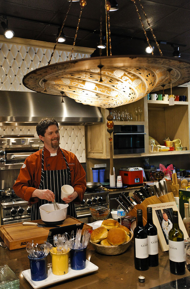 Photo - Chef Robert Black prepares short rib sloppy joes at Culinary Kitchen on Wednesday, April 4, 2012, in Oklahoma City, Oklahoma.  Photo by Chris Landsberger, The Oklahoman