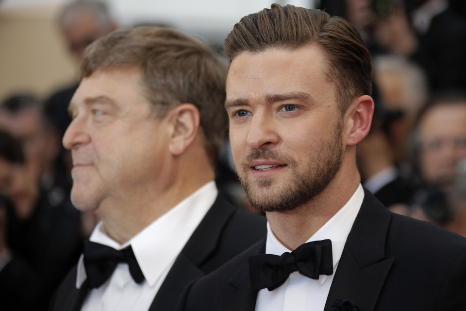 Photo - Actors John Goodman, left, and Justin Timberlake arrive for the screening of the film Inside Llewyn Davis at the 66th international film festival, in Cannes, southern France, Sunday, May 19, 2013. (AP Photo/Lionel Cironneau)