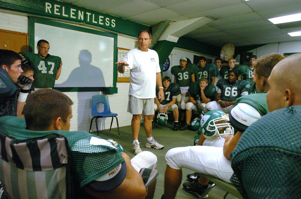 Mike Snyder, head football coach at Seminole High School on Wednesday,  September 21, 2005.  Oklahoman Photo by Steve Sisney
