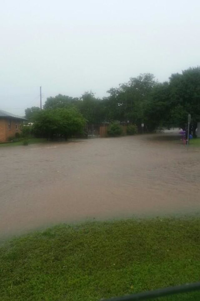 Photo - Corner of Village & Hasley -- Photo via Courtney Sexton @c_sexton on Twitter