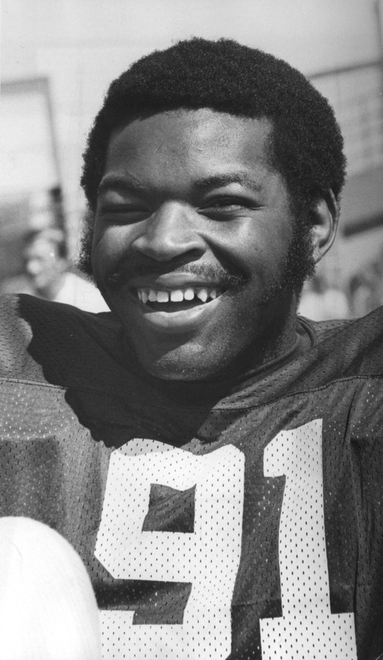Dewey Selmon, OU football player. Aug. 18, 1975. Selmon was inducted into the Oklahoma Sports Hall of Fame on March 20, 2012.