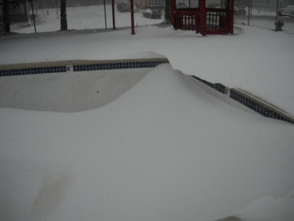 Neumayer Community Mobile Home Park...Located in Yukon Okla. Swimming Pool full of Snow.  Submitted by Kim Cooper.