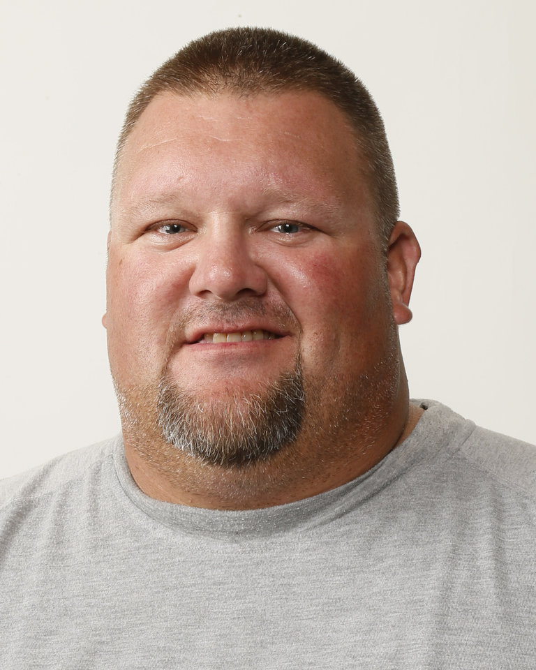 Photo - J.R. Conrad, Dibble football coach. Photo by Nate Billings, The Oklahoman