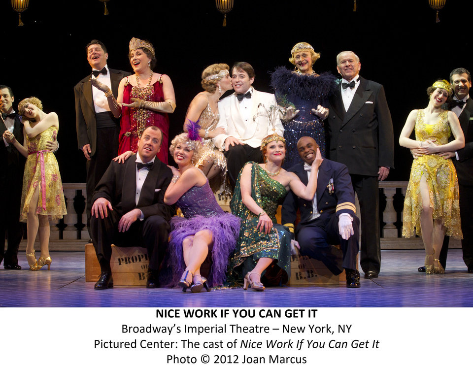 "The cast of ""Nice Work If You Can Get It""   Photo by Joan Marcus <strong>Photo by Joan Marcus</strong>"