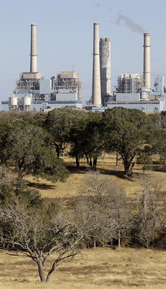 Photo - The Fayette Power Project, a coal-fired power plant, is shown in Ellinger, Texas. AP Archives Photo