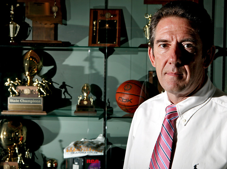 Photo - Ed Sheakley of the Oklahoma Secondary Schools Athletic Association, poses at the OSSAA offices in Oklahoma City on Wednesday, June 3, 2009. Photo by John Clanton, The Oklahoman ORG XMIT: KOD