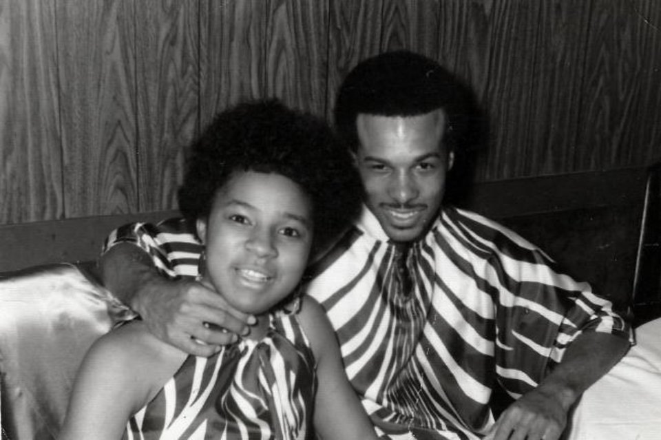 Photo -  Robert Edison, right, is shown with his future wife Bonella at the Afro American Ball in 1969 at the University of Oklahoma. Bonella was a student at Oklahoma City University. [Photo provided]