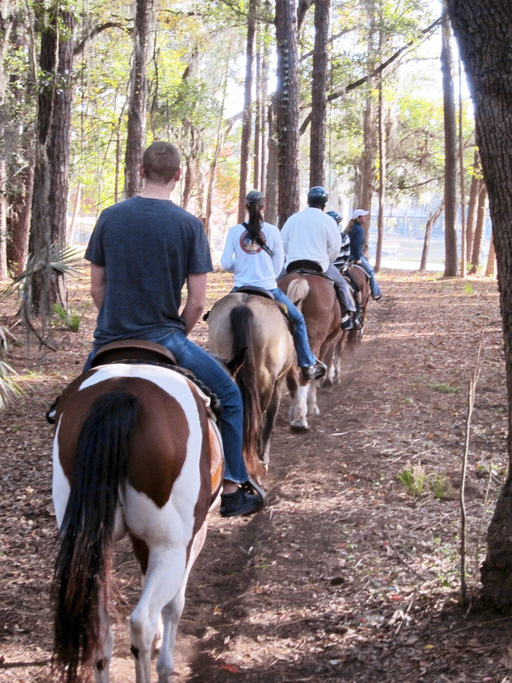 Photo - Horseback riding on Hilton Head Island. Photo Provided