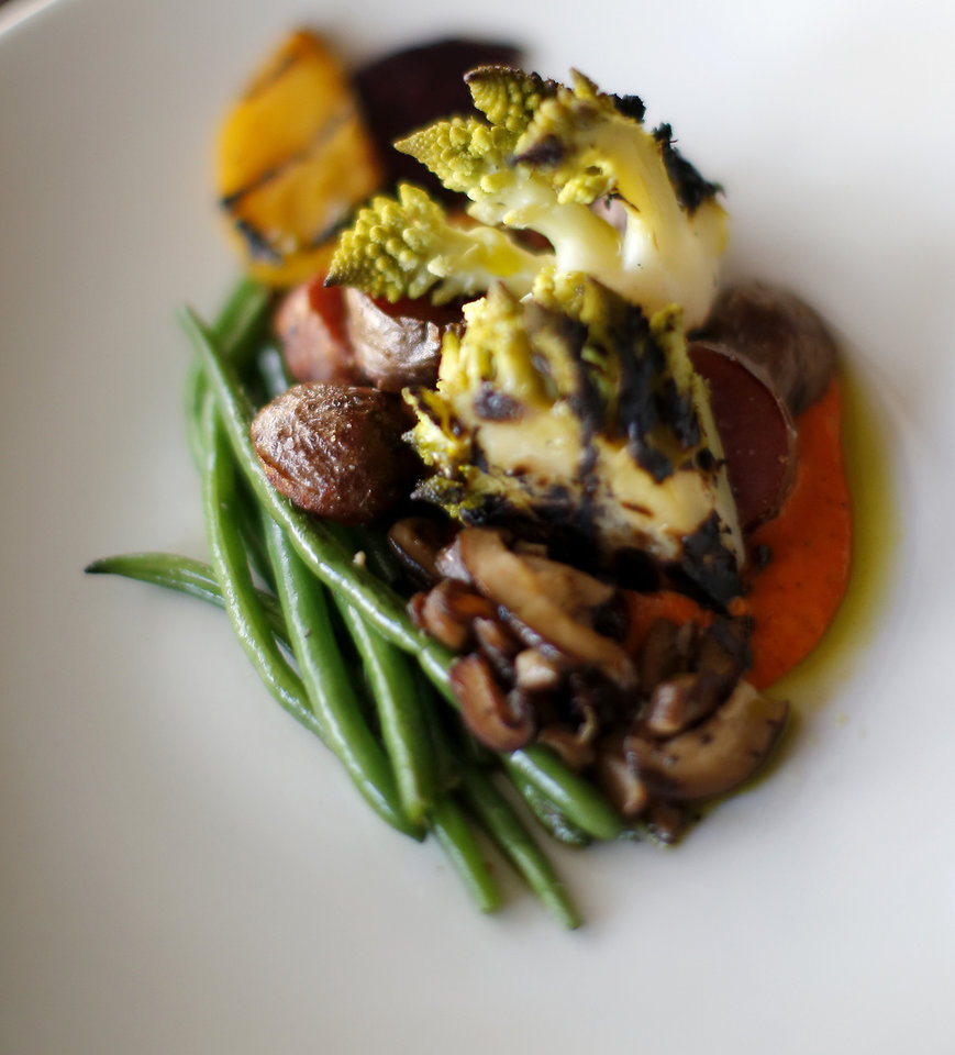 Photo -  This is a platto vegano dish at Patrono in Oklahoma City. [Photo by Bryan Terry, The Oklahoman]