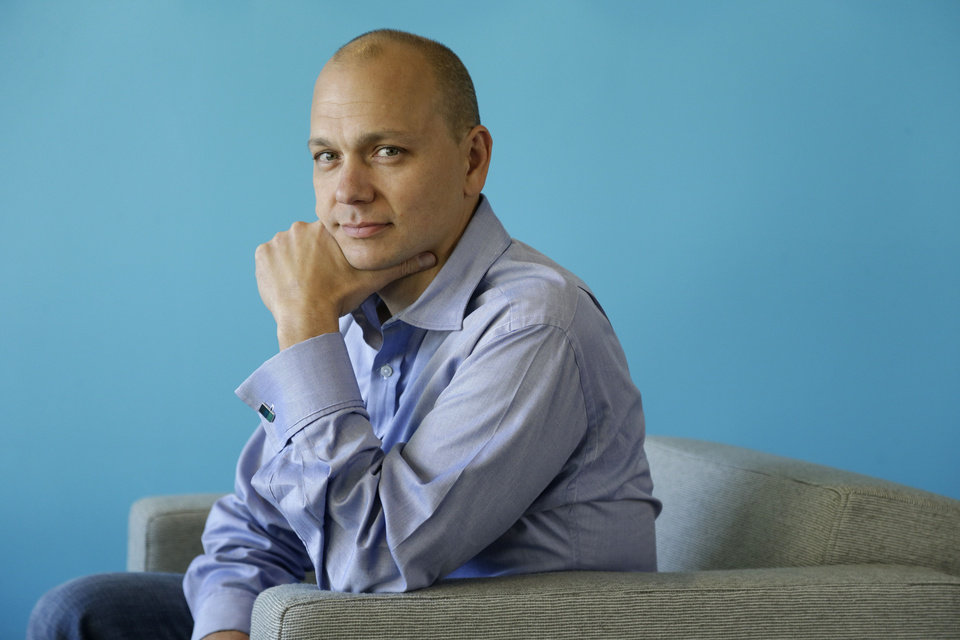 Photo - FILE - In this Tuesday, Oct.  1, 2013, file photo, Tony Fadell, Founder and CEO of Nest, poses for a portrait in the company's offices in Palo Alto, Calif. Google said Monday, Jan. 13, 2014, it will pay $3.2 billion to buy Nest Labs, which develops high-tech versions of devices like thermostats and smoke detectors.  (AP Photo/Marcio Jose Sanchez)