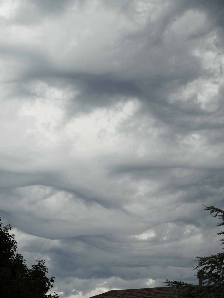 The Unusual Clouds in My Neighborhood in Edmond This Morning! Photo by Ruthann Lach