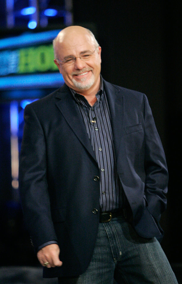 Photo - Dave Ramsey laughs during a dress rehearsal for Town Hall For Hope at LifeChurch in Oklahoma City, Oklahoma April 23, 2009.  Photo by Steve Gooch, The Oklahoman ORG XMIT: KOD