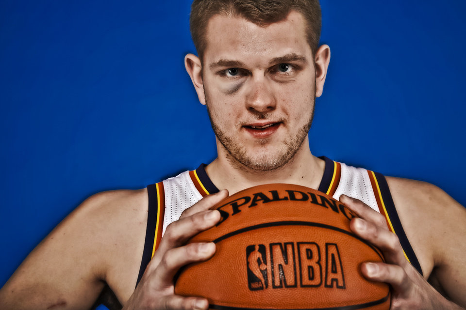 Photo - Thunder center Cole Aldrich is a physical defender who could see more spot minutes this season. Photo by Chris Landsberger, The Oklahoman