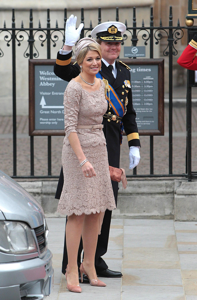 Photo - Netherlands' Crown Prince Willem-Alexander and Princess Maxima arrive at Westminster Abbey in London where Britain's Prince William and Kate Middleton will marry, Friday April 29, 2011. (AP Photo/PA, Lewis Whyld) UNITED KINGDOM OUT NO SALES NO ARCHIVE ORG XMIT: RWBJ105
