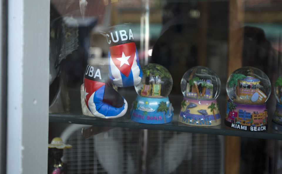 Photo - This April 30, 2014 photo shows souvenirs displayed in a gift shop on