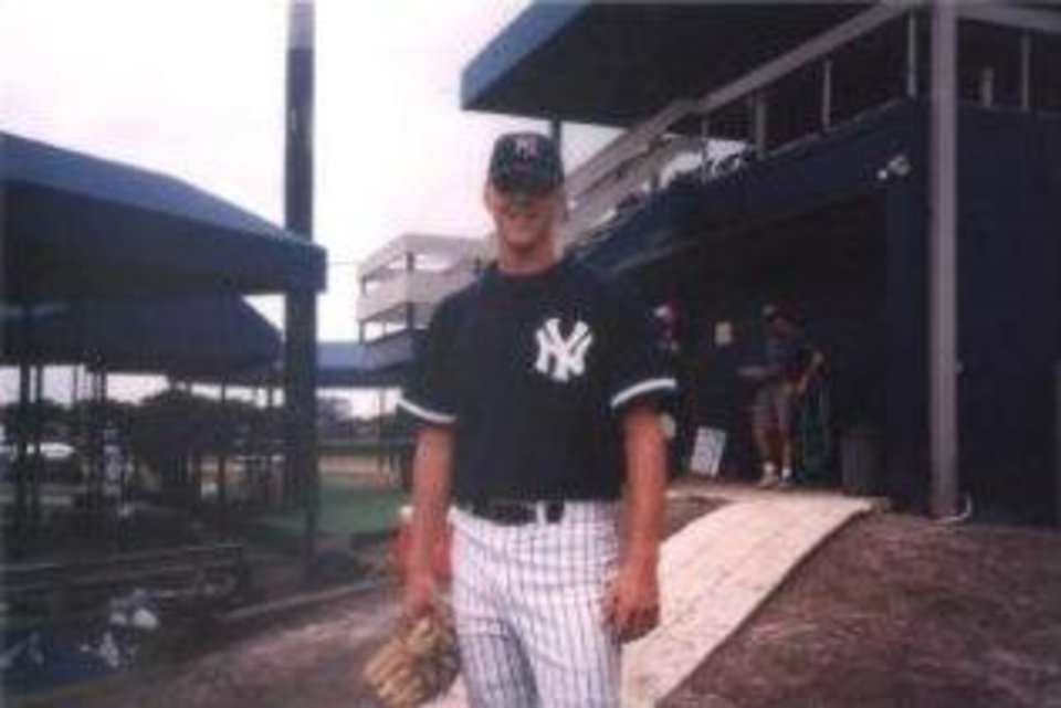 Photo - Brandon Weeden as a minor league baseball player. PHOTO PROVIDED