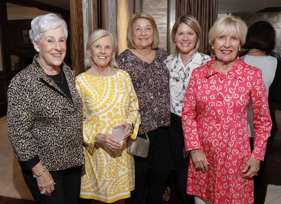 Photo - Nancy Ellis, Bette Jo Hill, Millie Hightower, Lindsay Graham, Susan McPherson. DOUG HOKE PHOTO, THE OKLAHOMAN