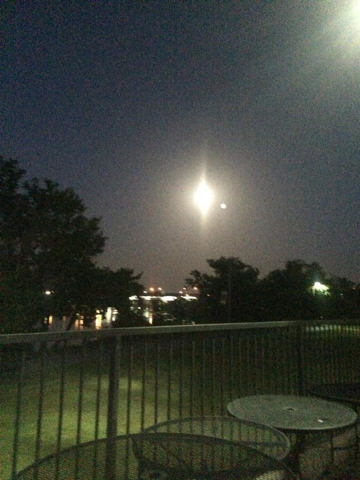 Mark from Durant. Moon over the Arkansas at River Walk in Jenks. - Photo submitted by Mark Morrison
