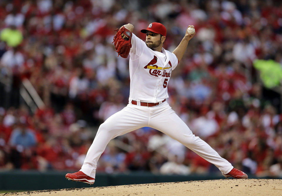 Photo - St. Louis Cardinals starting pitcher Jaime Garcia throws during the second inning of a baseball game against the San Francisco Giants, Thursday, May 29, 2014, in St. Louis. (AP Photo/Jeff Roberson)