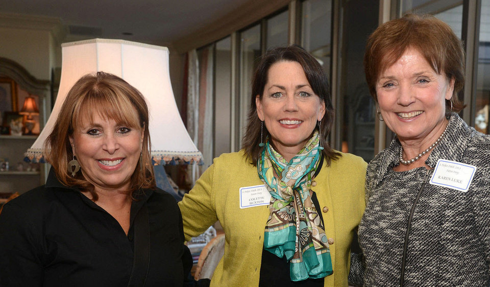 Photo - Edie Roodman, Colette Buxton, Karen Luke. Photo by David Faytinger, for The Oklahoman