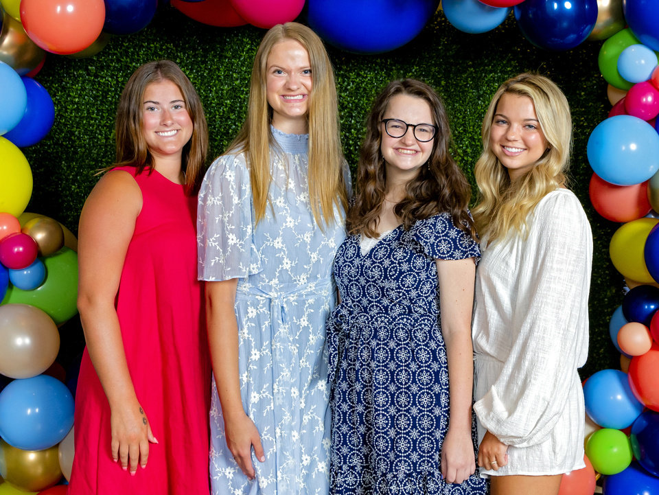 Photo -  Caroline Pitzer, Megan Szymanski, Ella Brinkman and Sydney Schuppan.