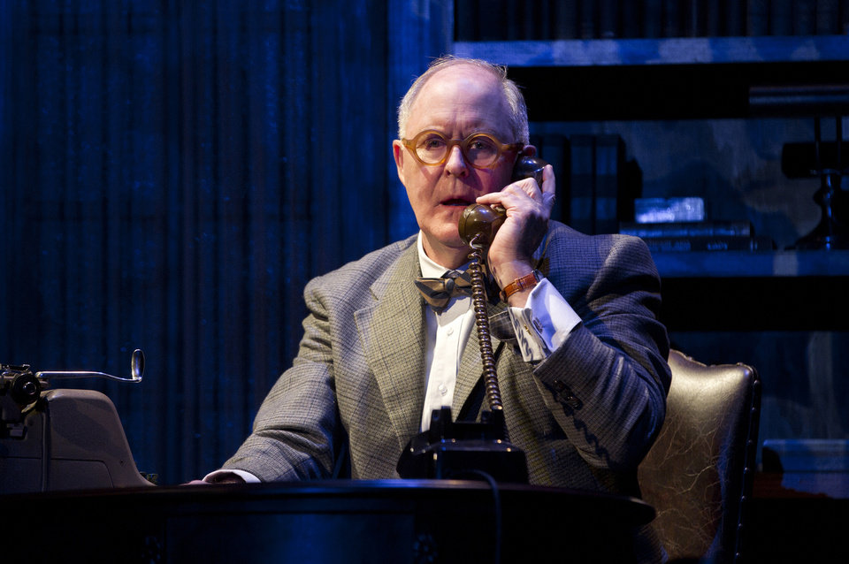 In this theater image released by Boneau/Bryan-Brown, John Lithgow portrays columnist and political pundit Joseph Alsop in a scene from the play