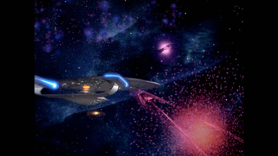 Star Trek: The Next Generation Enterprise as seen in the new Blu-ray high definition edition of the program.    Photo Credit: CBS Home Entertainment <strong></strong>
