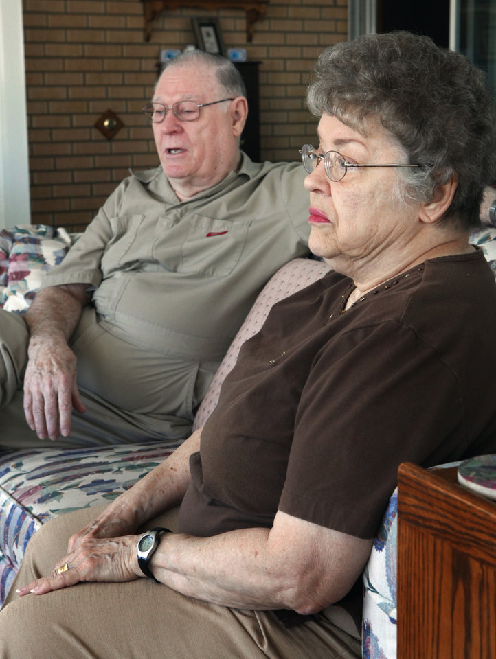 Don and Kay Wilcoxson talk about the death of their granddaughter Stephanie Wilcoxson, 11, at their home on Thursday, March 18, 2010, in Blanchard, Okla.   Photo by Steve Sisney, The Oklahoman
