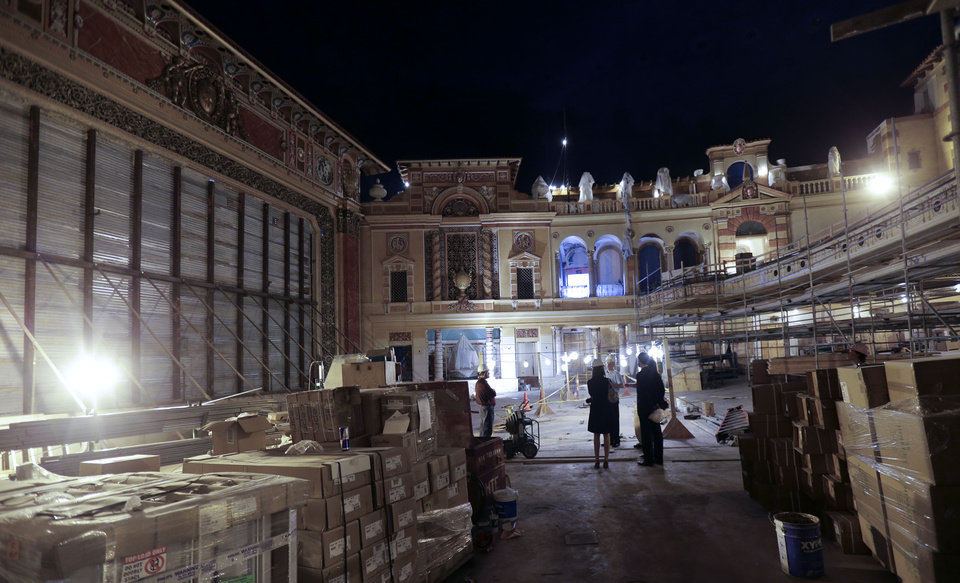 Photo - The main interior is seen during renovation work at the Saenger Theater in Downtown New Orleans on Wednesday, May 22, 2013. (AP Photo/Gerald Herbert)