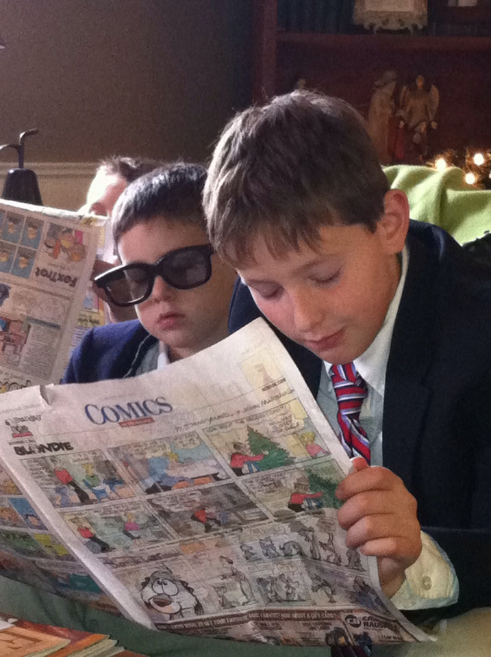 Who says young people aren't reading the paper these days?