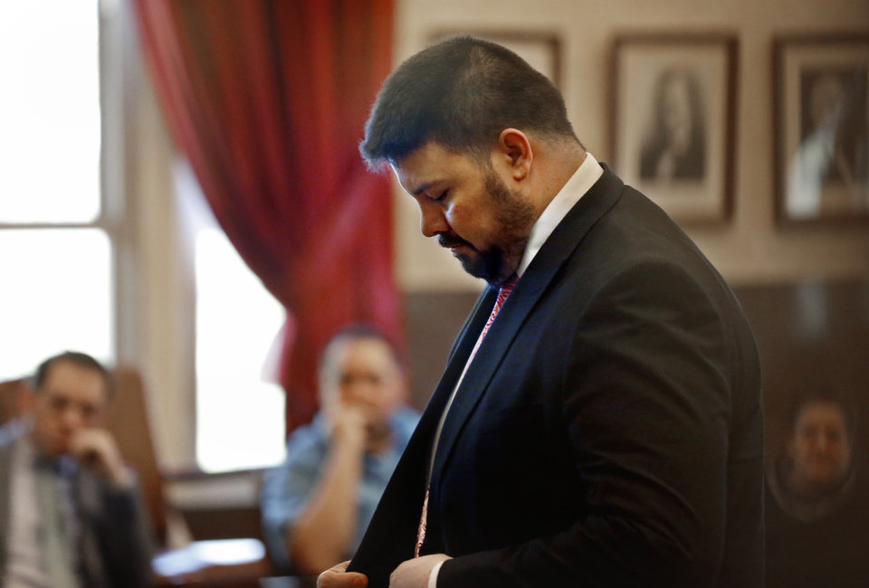 Photo - Former Oklahoma State Senator Ralph Shortey appears for arraignment at the Cleveland County Courthouse on Friday, March 24, 2017 in Norman, Okla.  Photo by Steve Sisney, The Oklahoman