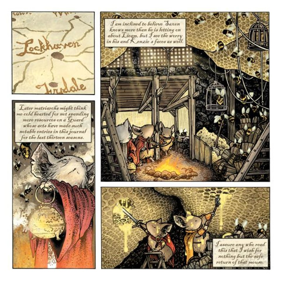 Photo - A page from the Free Comic Book Day story featuring the Mouse Guard. Images provided by Archaia     ORG XMIT: 1003041556410678
