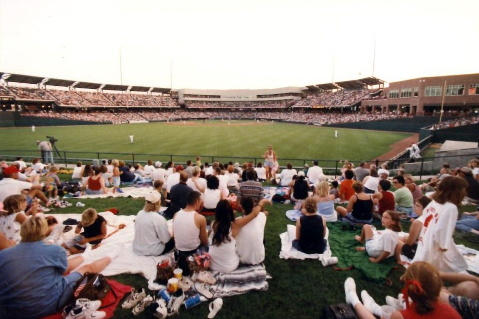 Photo - Fans watching the game during the 1998 season. Photo OKC Dodgers.