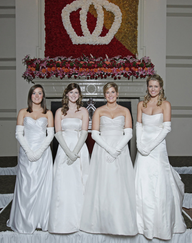 Debutantes, from left, Megan Calli Swisher, Callan Lee Gordon, Sarah Michelle Brown and Kelsey Lynn Frederickson at Oklahoma City Golf and Country Club Saturday, Nov. 28, 2009. Photo by Doug Hoke, The Oklahoman