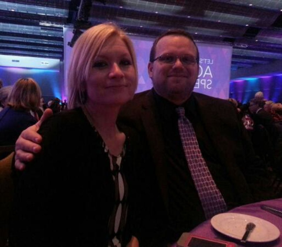Photo - Brent and his wife Michelle at the Alzheimer's gala.