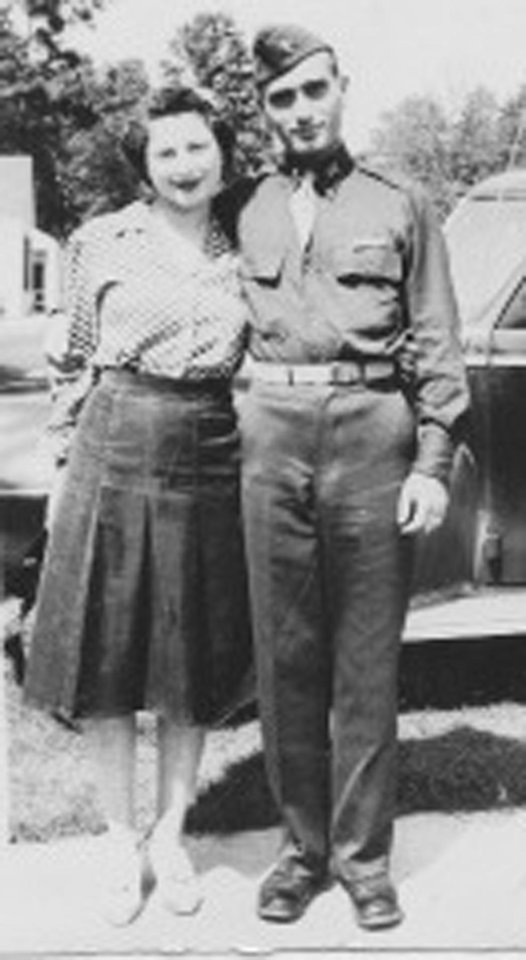 Photo - This undated image provided by Hyla Merin shows 2nd Lt. Hyman Markel with his bride, Celia Markel. Markel was a rabbi's son, brilliant at mathematics, the brave winner of a Purple Heart who died in 1945. Markel was killed on May 3, 1945, in Italy's Po Valley while fighting German troops as an officer with the 88th Division of the 351st Infantry Regiment. (AP Photo/Hyla Merin)