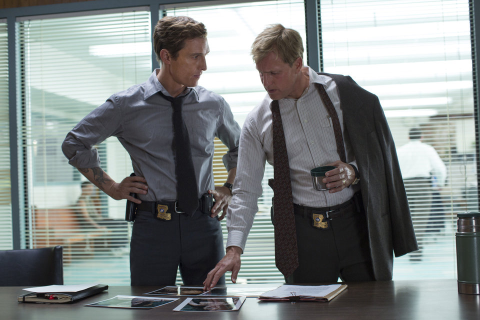 Photo - This image released by HBO shows Matthew McConaughey, left, and Woody Harrelson from the HBO series