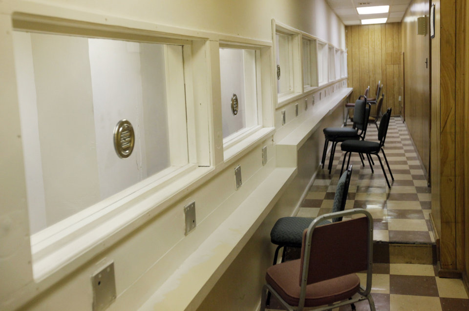 A view of the non-contact visitation area at the Oklahoma State Penitentiary in McAlester, Okla., Wednesday, Dec. 7, 2011. Photo by Nate Billings, The Oklahoman