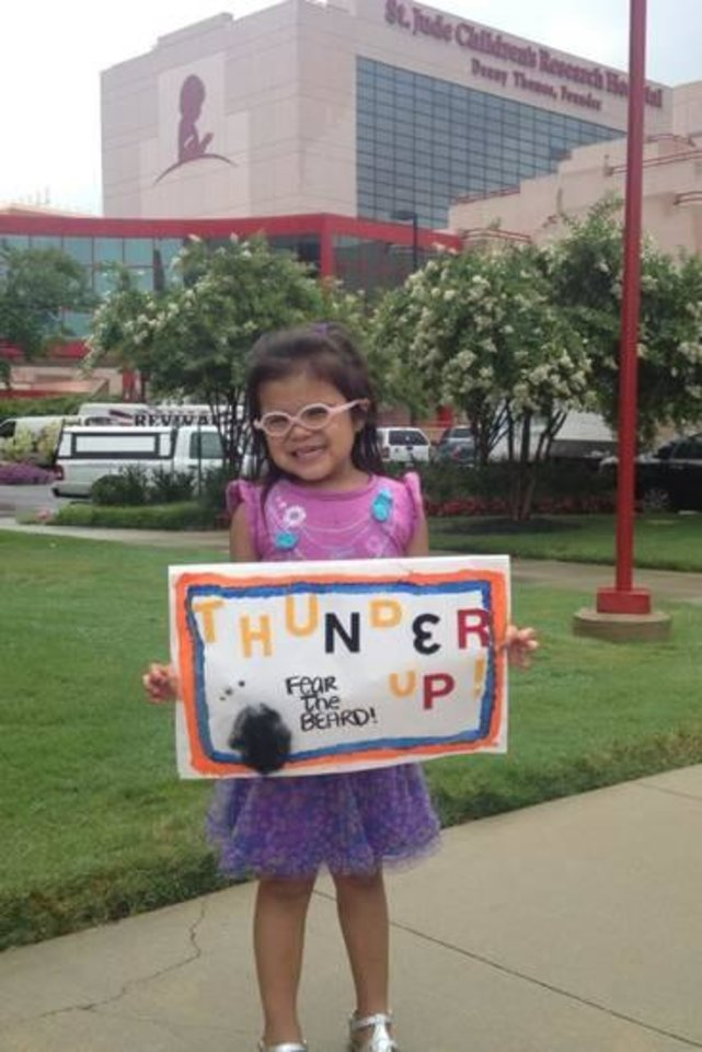 Kaydence from Shawnee, Okla. Thunders Up at St. Jude this week.