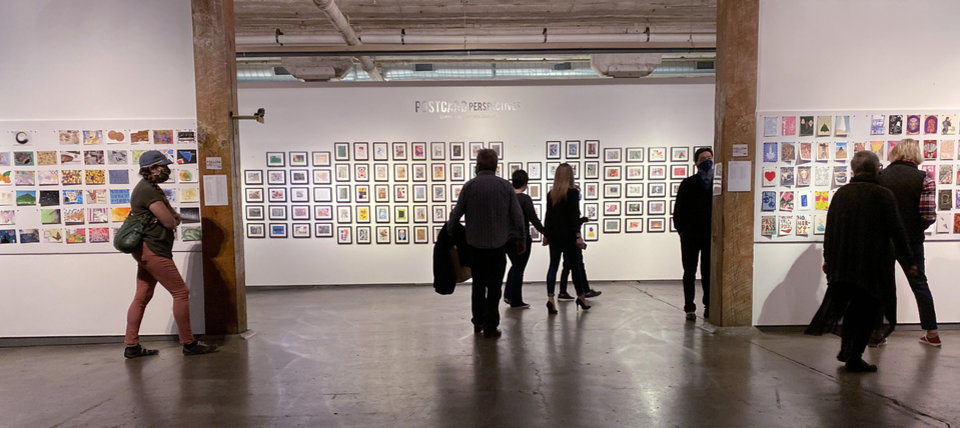 Photo - A view of the Postcard Perspectives exhibition at Artspace at Untitled. CHANDLER WATSON PHOTO
