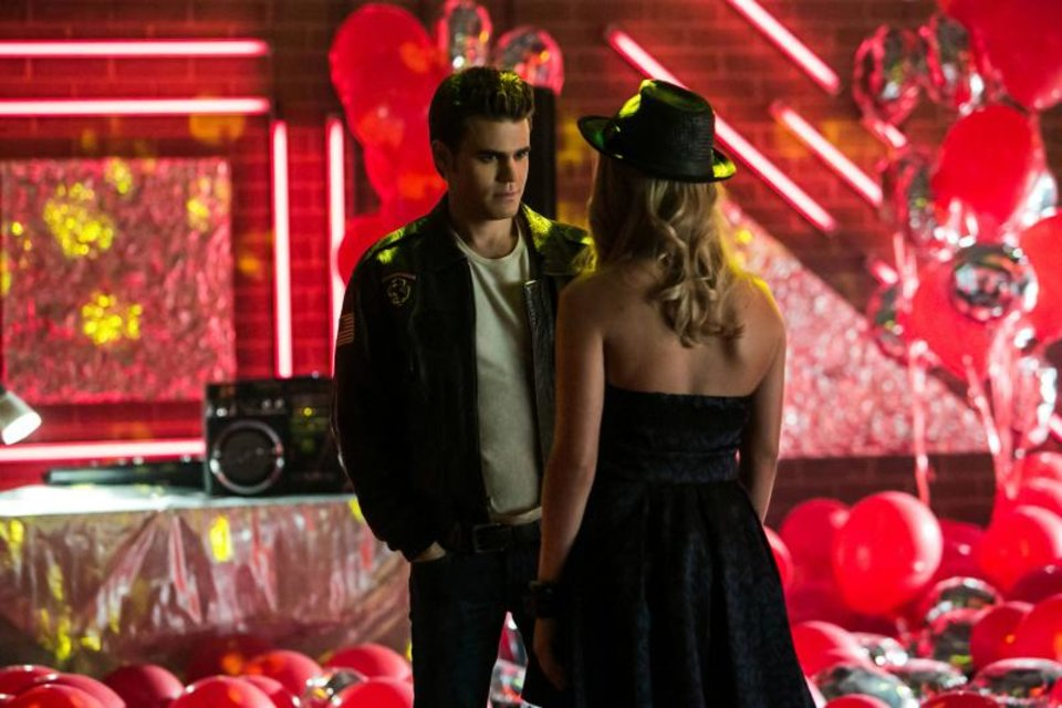 "The Vampire Diaries -- â��A View to a Killâ�� -- Pictured (L-R): Paul Wesley as Stefan and Claire Holt as Rebekah â�"" Image Number: VD412c_0013.jpg -- Photo: Tina Rowden/The CW -- ©2013 The CW Network, LLC. All rights reserved."