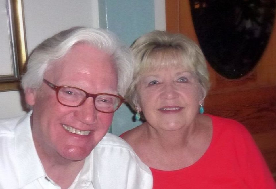 Photo -  Bob Dotson is seen with wife, Linda Puckett Dotson, who grew up in Oklahoma City. [Provided]