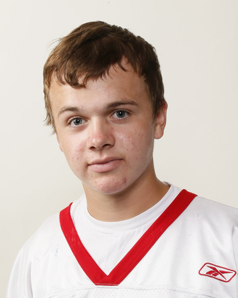 Photo - Garrett Lessman, Southwest Covenant football player, poses for a mug shot during The Oklahoman's Fall High School Sports Photo Day in Oklahoma City, Wednesday, Aug. 15, 2012. Photo by Nate Billings, The Oklahoman