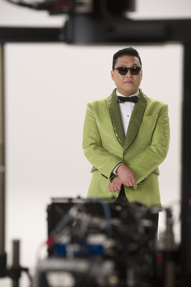 Photo - This screenshot provided by Paramount Farms shows Psy filming  the Super Bowl advertisement for first-time advertiser Paramount Farms' Wonderful Pistachios brand of nut. The 30-second ad in the third quarter presents the company's