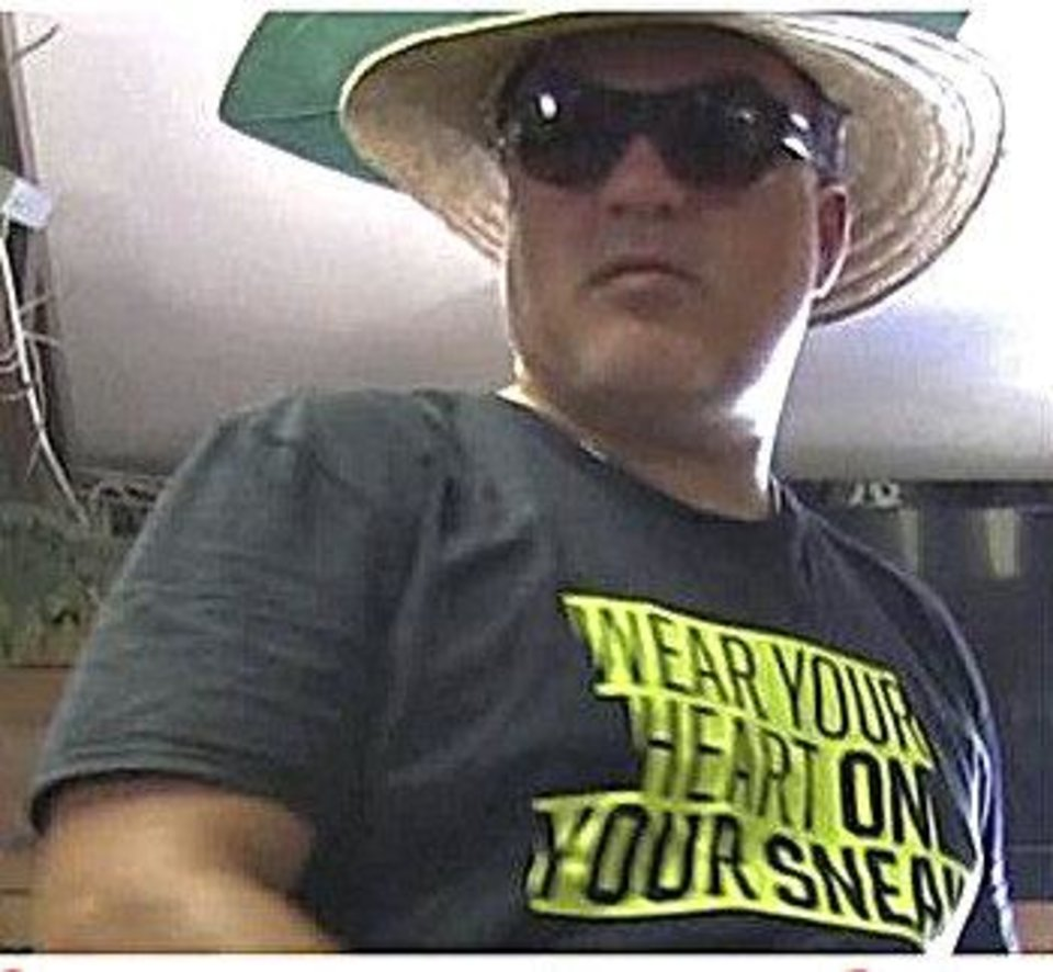 Photo of the man caught on surveillance cameras at the G.W. Zoological Park in Wynnewood who abandoned a chinchilla inside the zoo's gift shop. He is accused by zoo employees and management of killing a chinchilla and then staging a fake video to make the zoo look bad. Photo provided <strong></strong>