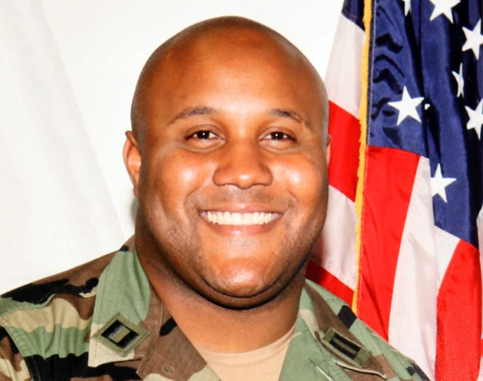 Photo - FILE - This undated file photo provided by the Los Angeles Police Department shows fugitive former Los Angeles police officer Christopher Dorner. Officials say the burned remains found in a California mountain cabin have been positively identified as Dorner's. San Bernardino County Sheriff's spokeswoman Jodi Miller said Thursday, Feb. 14, 2013 that the identification was made through Dorner's dental records. (AP Photo/Los Angeles Police Department, File)